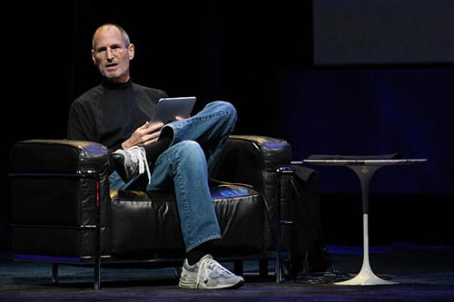 foto de keynote-Steve Jobs-iPad 2